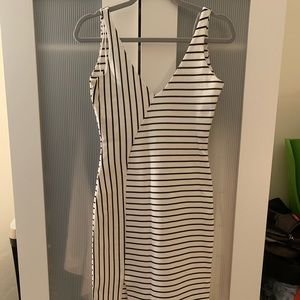 Zara white striped dress medium